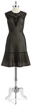 Tracy Reese Mesh Fit and Flare Dress