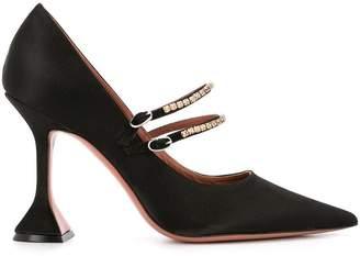 Hourglass Amina Muaddi embellished heel pumps