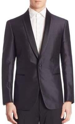 Pal Zileri Diamond Jacquard Silk Jacket