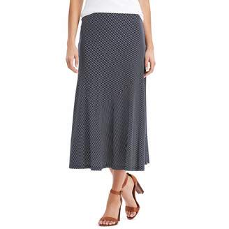 Chaps Women's Diagonal Stripe Midi Skirt
