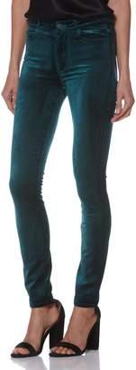 Paige Hoxton Velvet High Waist Skinny Pants