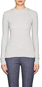 The Row Women's Riddi Compact Knit Long-Sleeve Top-Silver