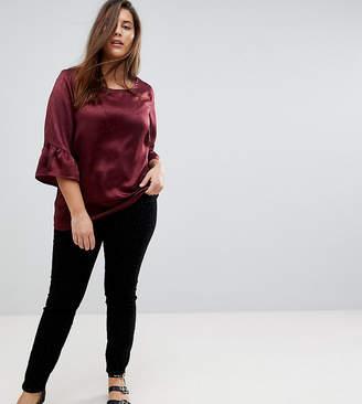 Junarose Flocked Velvet Leopard Print Skinny Jeans