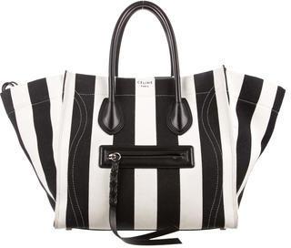 CelineCéline Canvas 2015 Medium Luggage Phantom Bag
