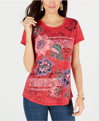 Style&Co. Style & Co Graphic-Flower Print Top