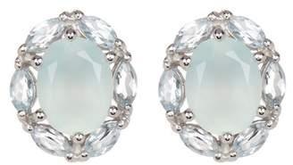 Savvy Cie Blue Chalcedony & Blue Topaz Stud Earrings