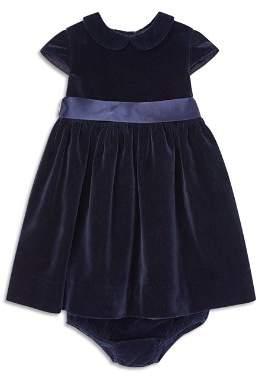 Ralph Lauren Girls' Velvet Dress & Bloomers Set - Baby