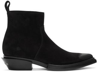 Balenciaga Black Suede Santiag Boots