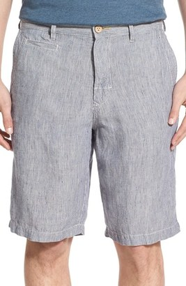Men's Tommy Bahama 'Line Of The Times' Relaxed Fit Striped Linen Shorts $88 thestylecure.com