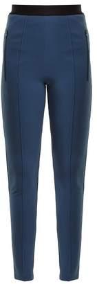 Balenciaga High Rise Skinny Trousers - Womens - Navy