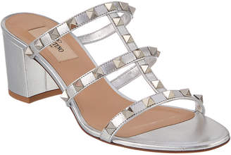 Valentino Rockstud Leather Sandal