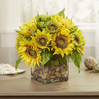 Birch Lane Faux Sunflowers in Vase