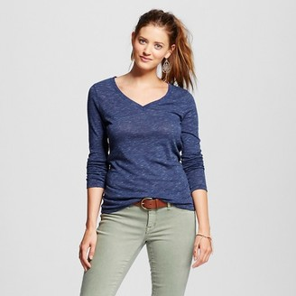 Mossimo Supply Co. Women's Solid Long Sleeve V-Tee - Mossimo Supply Co. (Juniors') $12 thestylecure.com