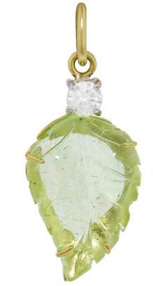 Irene Neuwirth One-Of-A-Kind Cuperian Tourmaline Carved Leaf Charm