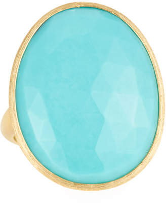 Marco Bicego 18k Lunaria Turquoise Oval Ring