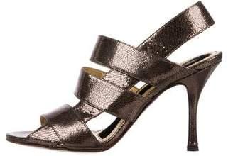 Dolce & Gabbana Leather Strap Sandals