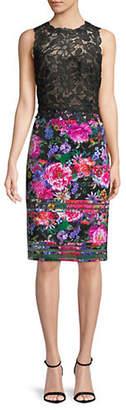 Tadashi Shoji Sleeveless Floral Lace Dress