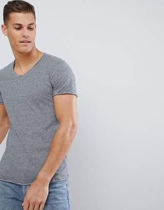 Jack and Jones Short Sleeve Stripe U Neck T-Shirt