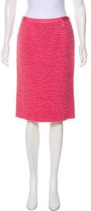 Nina Ricci Bouclé Knee-Length Skirt