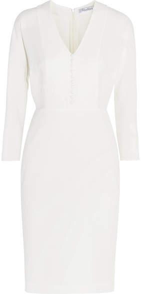Max Mara - Silk-crepe Midi Dress - Ivory