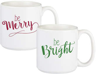 Cathy's Concepts Cathys Concepts Merry and Bright Large Coffee Mugs, Set of 2