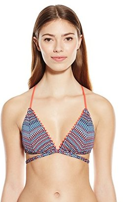Lucky Brand Women's Mosaic Yarn-Dye Bikini Top with Removable Cups $68 thestylecure.com