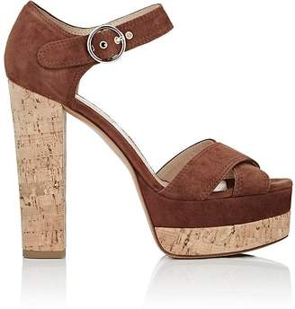 Valentino Women's Erin B. Suede Platform Sandals