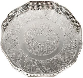 One Kings Lane Vintage English Plate Hexagonal Bar Tray - La Maison Supreme