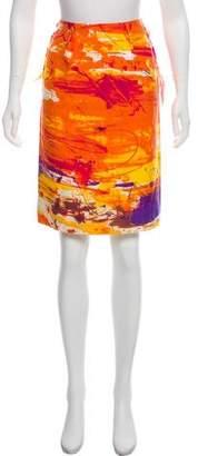 Saint Laurent Silk Knee-Length Skirt