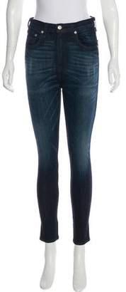 Rag & Bone Anfield Justine Zipper High-Rise Jeans