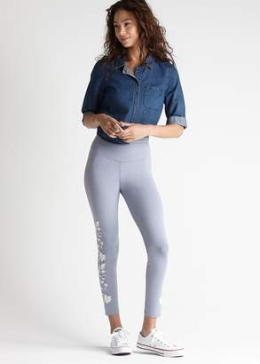 Yummie Skimmer Legging with Floral Embroidery Detail