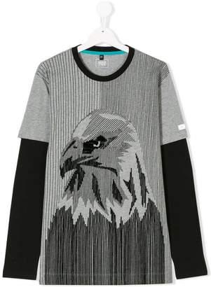 Emporio Armani Kids teen eagle layered t-shirt
