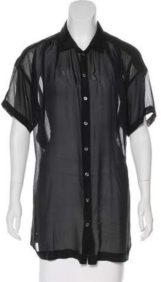 Elizabeth and James Silk Short Sleeve Top