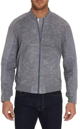 Robert Graham Ricardo Tailored Fit Suede Bomber Jacket