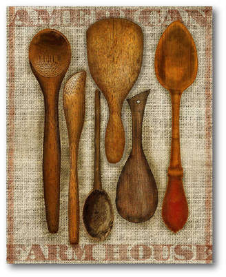 Courtside Market Wall Decor Wooden Spoons Canvas Wall Art
