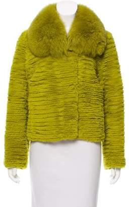 Trilogy Fox-Trimmed Fur Jacket