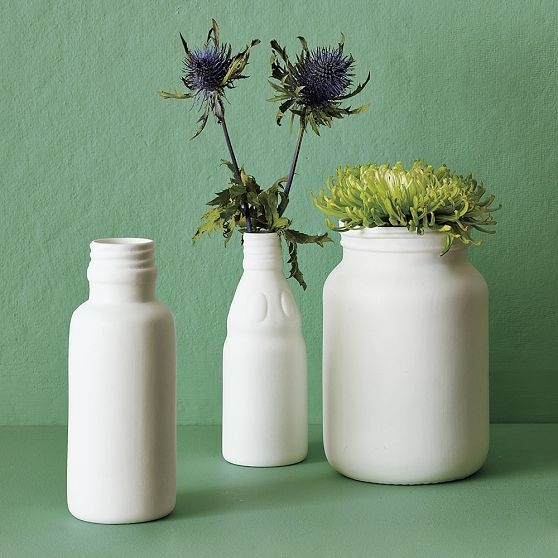 Porcelain Milk Bottles