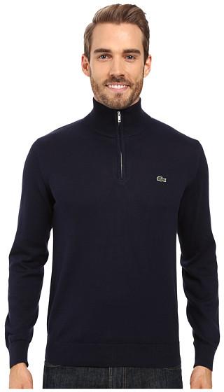 LacosteLacoste Segment 1 1/4 Zip Jersey Sweater