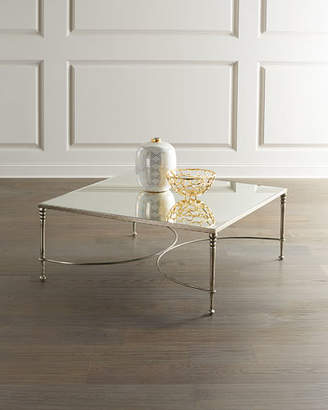 Bernhardt Orleans Silver Leaf Square Coffee Table