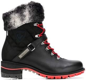 Rossignol fur trim ankle boots
