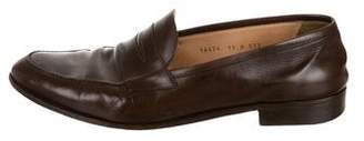 Gravati Round-Toe Leather Loafers
