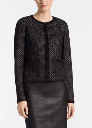 St. John Shimmer Inlay Brocade Knit Jacket