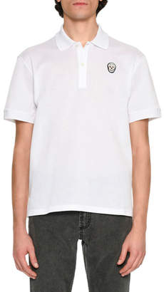 Alexander McQueen Classic Polo Shirt with Skull, White