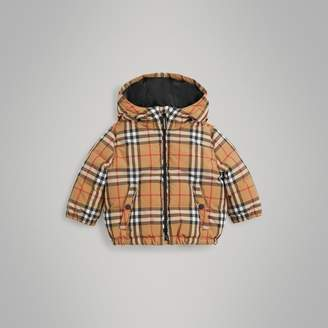Burberry Childrens Vintage Check Down-filled Hooded Jacket