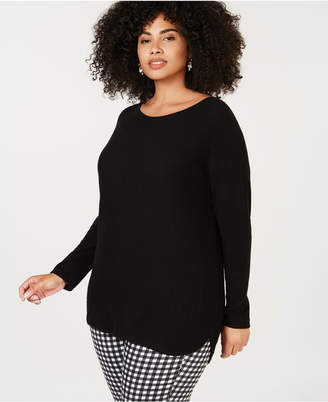 Charter Club Plus Size Pure Cashmere Scoop Neck Sweater