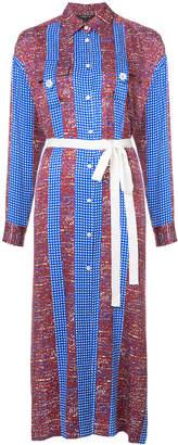 Derek Lam pattern panel stripe tunic dress