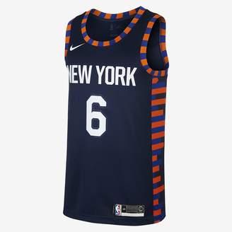 Nike Kristaps Porzingis City Edition Swingman (New York Knicks) Men's NBA Connected Jersey