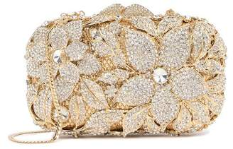 Natasha Accessories Crystal Floral Clutch