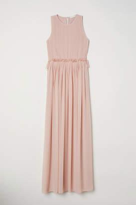 H&M Long Chiffon Dress - Orange
