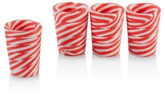 Twos Company Two's Company Peppermint Shot Glasses, Set of 4